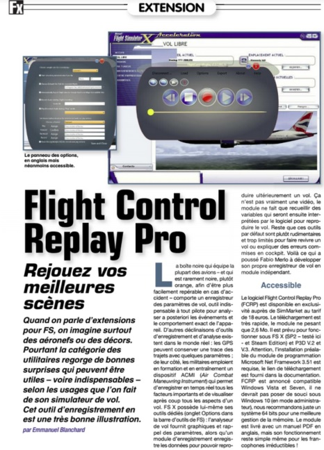 FlightControlReplay Professional Edition OUT NOW for P3D and FSX