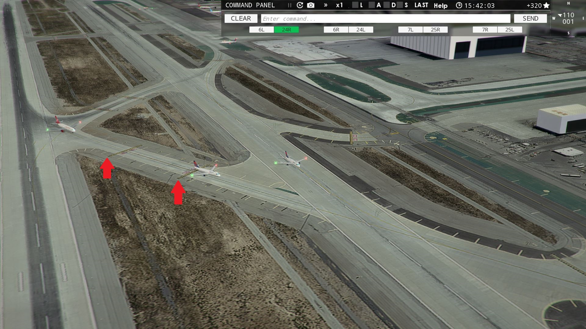 Tower!3D Pro - LAX 24L & 24R Taxiway Z Hold Points - ATC