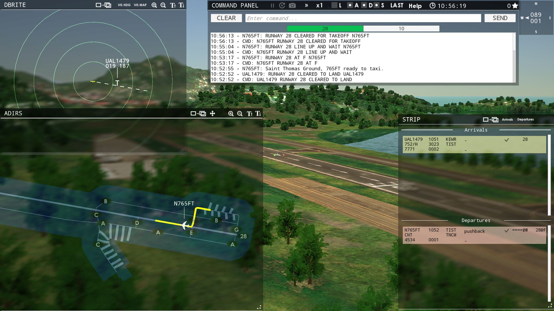 Tower! 3D Pro, Intersection Takeoff - ATC Simulators - The