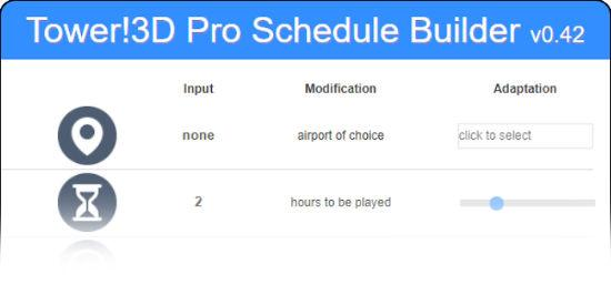 Schedule Builder Tool